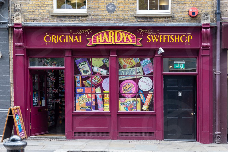 Original Hardys Sweetshop in London UK. photo