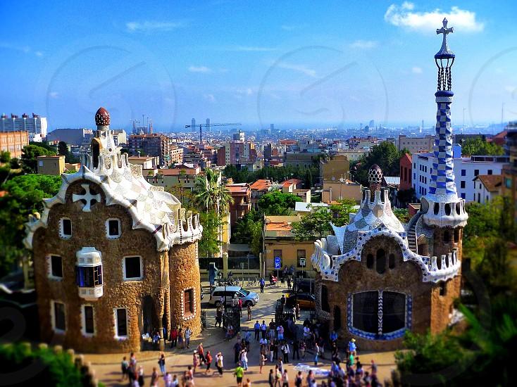 Park Guell. Barcelona. Spain photo