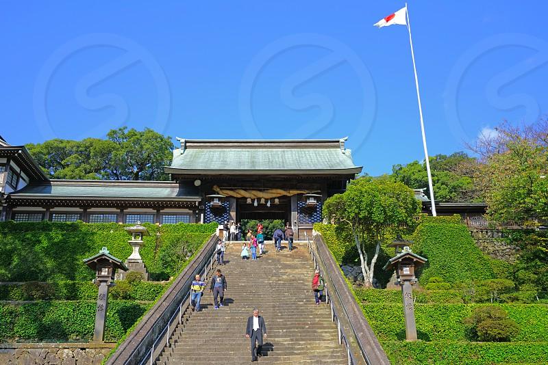 The Suwa Shrine in Nagasaki Japan photo