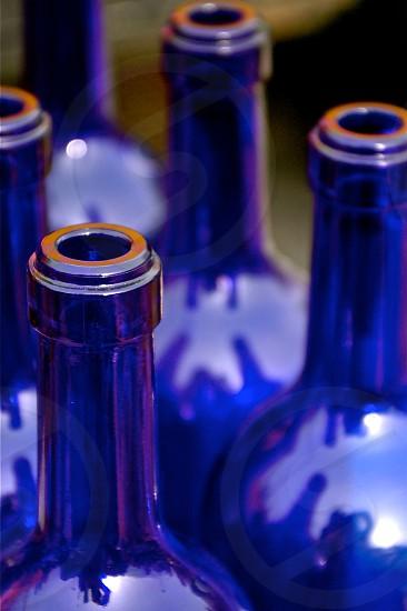 Blue Bottles Circles photo
