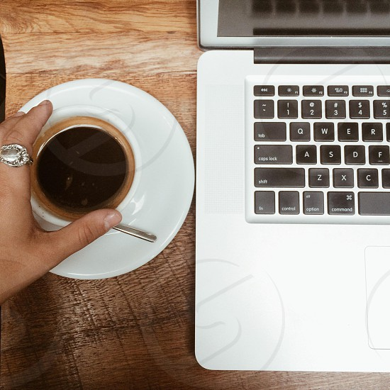 Coffee computer photo