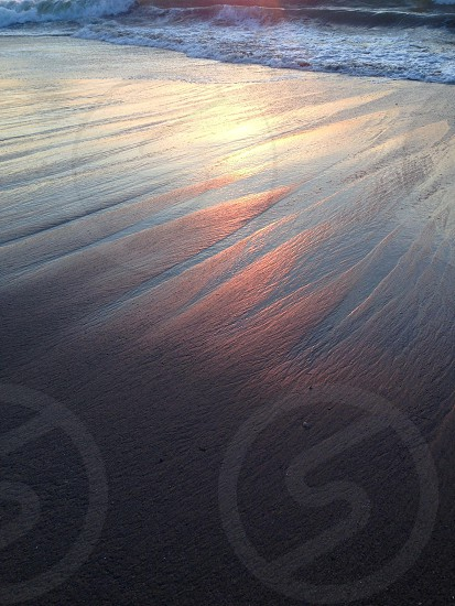 Texture at the beach photo