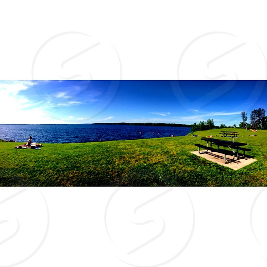 #beautiful #sky #water #lake #Wisconsin  photo