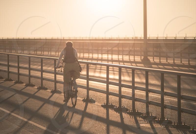 Bike on a bridge Sweden Stockholm photo