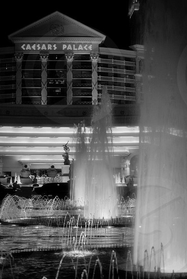 Las Vegas in black and white photo