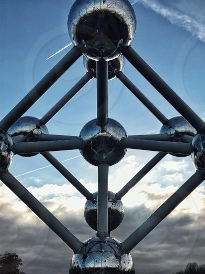 structure atomium belgium brussels photo