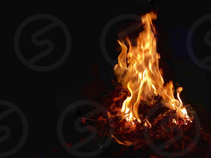 Fire flames on the occasion of Holi ka dhan photo