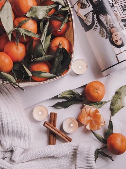 Tangerines orange still studio composition light bright photo