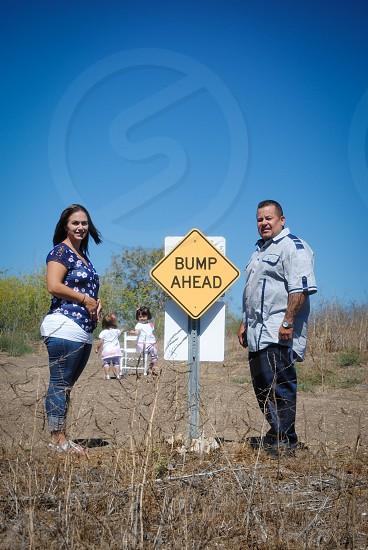 bump ahead signage photo