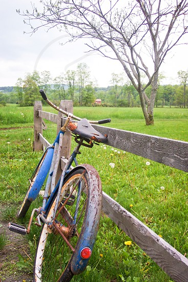 Rusty old bike; somewhere in Vermont photo