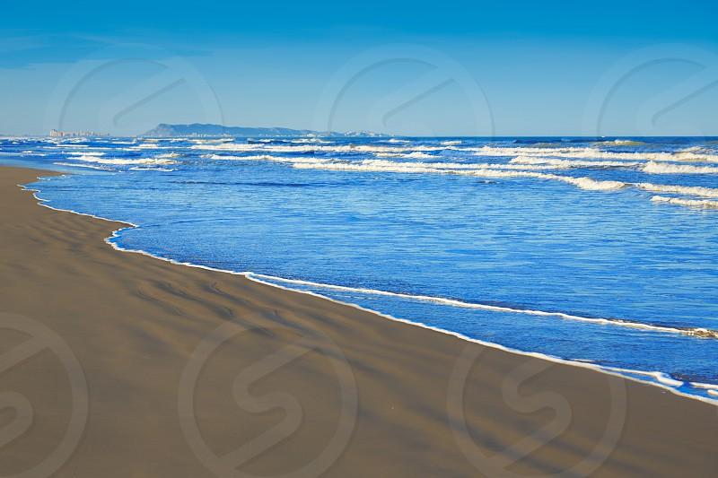 Gandia beach in Valencia of Mediterranean Spain photo