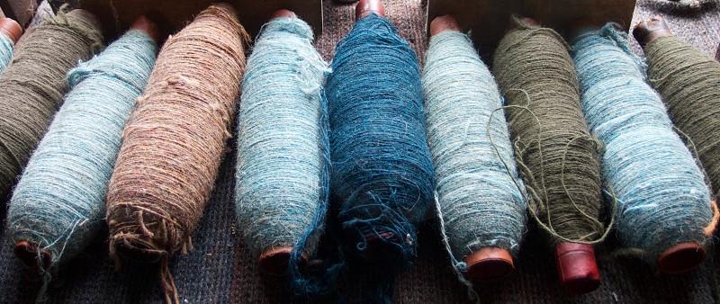Yarn bobbins for weaving. Isle Of Skye Scotland. photo