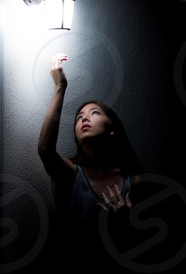 NightAsian girl modellight darkwomanhope photo