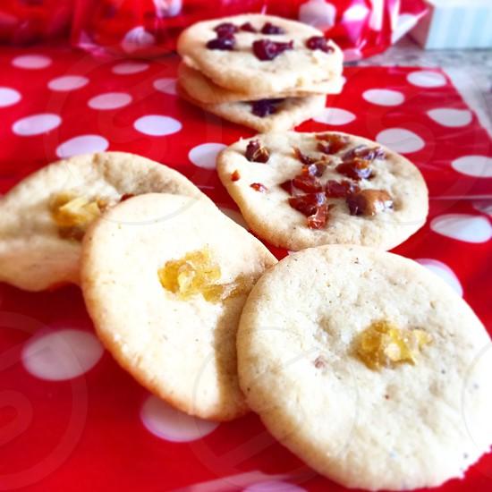 Diwali nan khatai nuncaties Indian sugar cookies indian desserts dates cranberries candied ginger photo