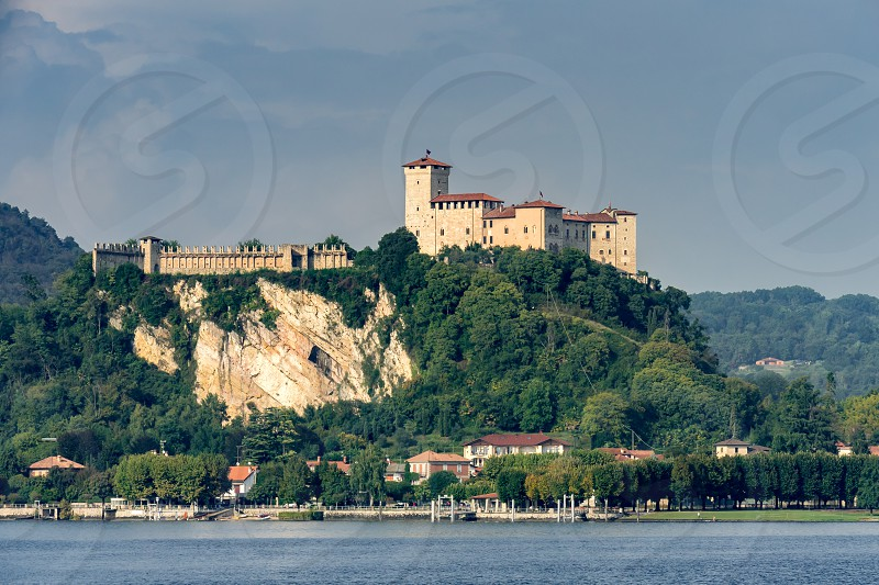 Rocca d'Angera Castle in Angera on Lake Maggiore Piedmont Italy photo