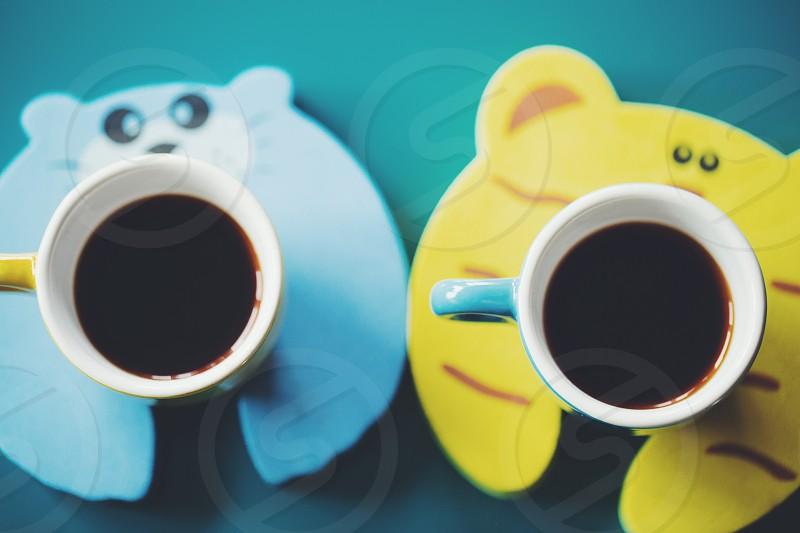 VSCO F2 preset coffee animal coasters photo