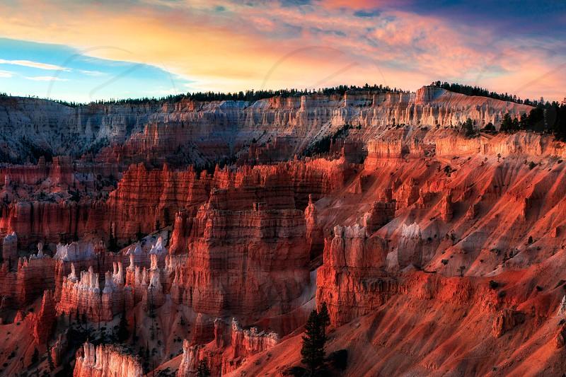 Dawn Light Illuminating Bryce Canyon photo