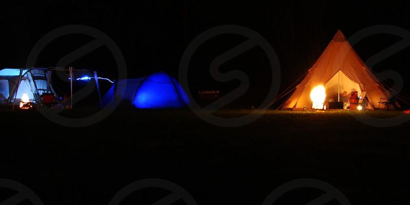 Campingtentsnightfirecanvaslight photo