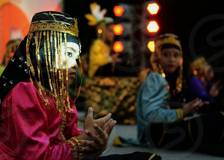 Kinder bei einem traditionellen Konzert im Santichaiprakan Park am Mae Nam Chao Phraya in der Hauptstadt Bangkok von Thailand in Suedostasien. photo