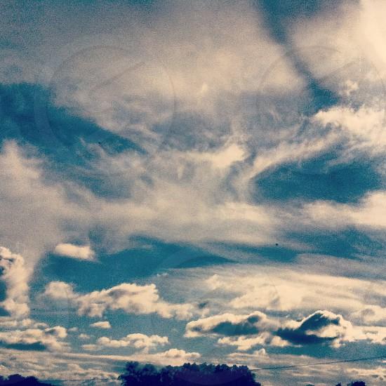 clouds blue skies sky photo