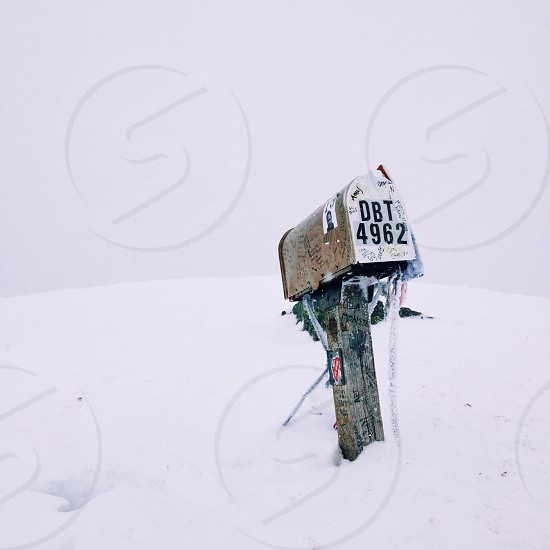 Mailbox Peak in Winter photo