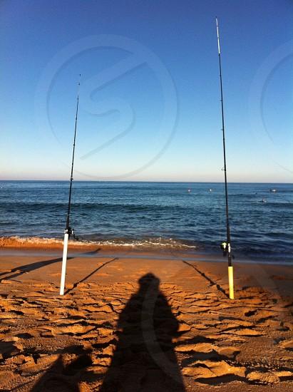 Shadow fishing Avoca Beach NSW photo