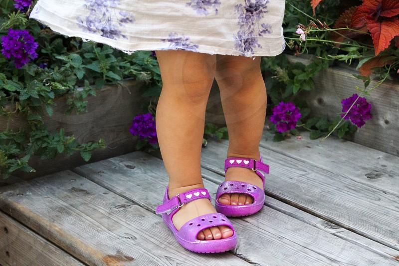 Purple baby shoes  photo