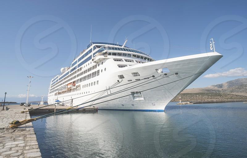 Big passenger ship in Greece photo
