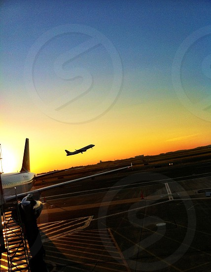 Sunrise take-off. photo