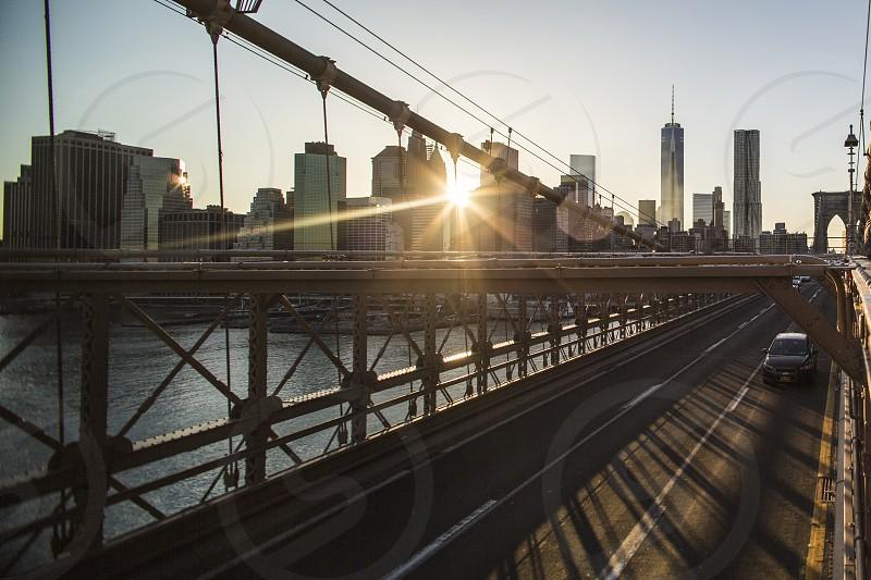 Lower Manhattan; Brooklyn Bridge photo