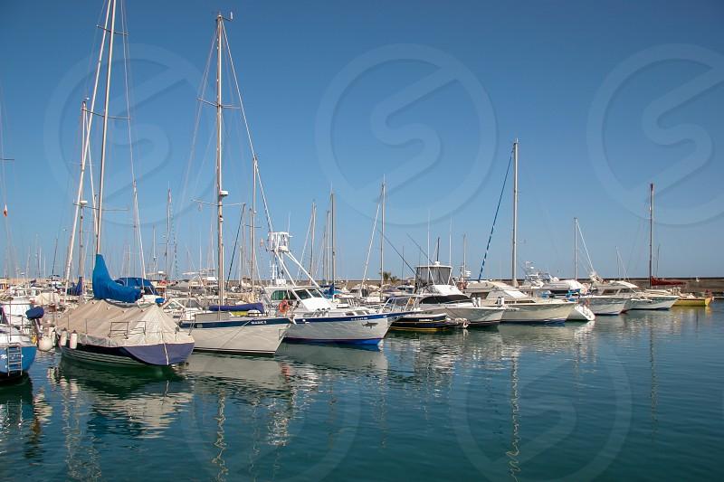 Marina in Lanzarote photo