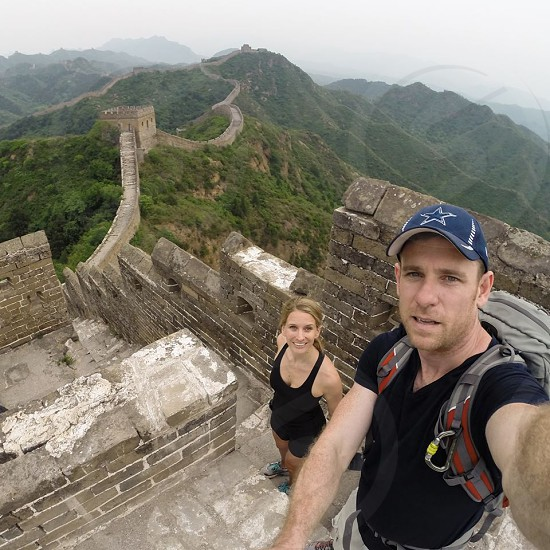 Hiking the Great Wall of China photo