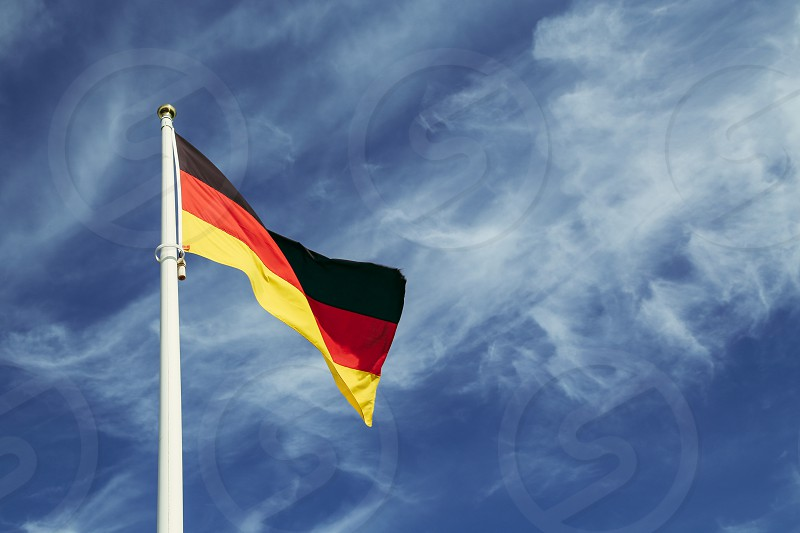 German flag Germany  flag nation country blue sky photo