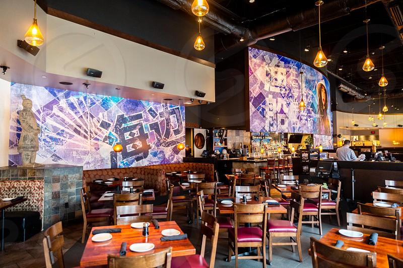boston pfchangs restaurant mural painting photo