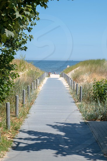access to the beach of Zempin on the island of Usedom in the Baltic Sea photo