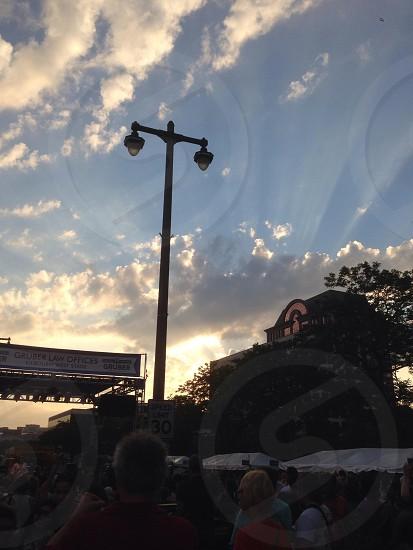 Sunset over Bastille Days in Milwaukee Wisconsin  photo