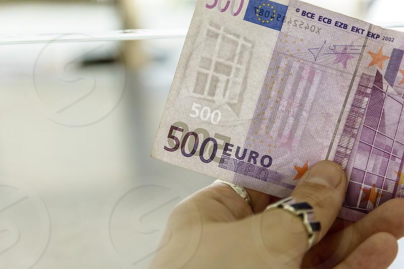 Euro paper money banknote of 500 denomination photo