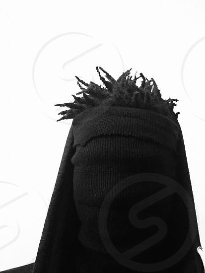 black textile photo