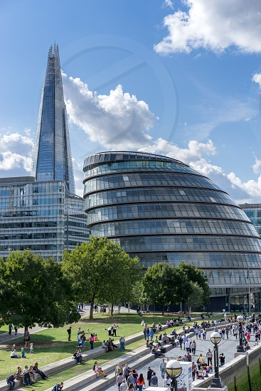 View of City Hall London and promenade photo