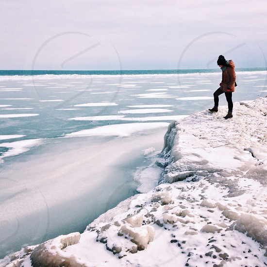 ||Winter's Edge|| Exploring Northerly Island in Chicago. Lake Michigan is so beautiful in the winter.  photo