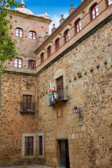Romero Moctezuma house in Caceres of Spain at Extremadura photo