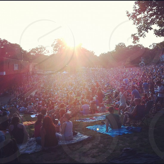 Sunny outdoor concert with lawn seating at Merryweather in columbia Maryland. photo