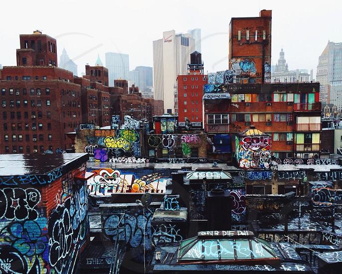 graffiti city view art photo