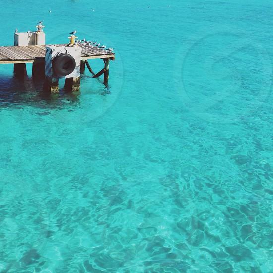 blue sea view photo