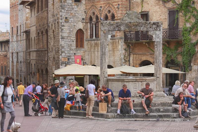 The square of San Gimignano Italy photo