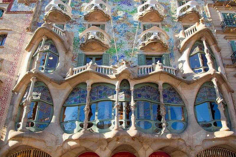 Barcelona Casa Batllo facade of Gaudi in Paseo de Gracia photo