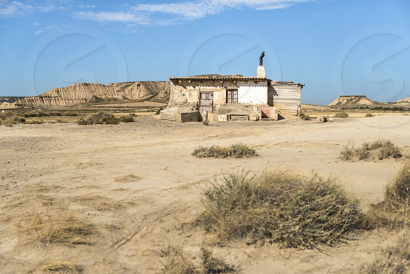 Lonely house in the wild west photo