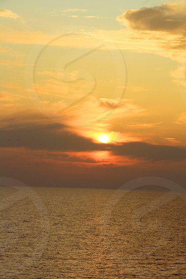 Sunrise meditteranean sea photo