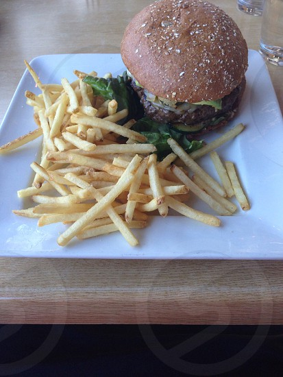 Burger and fries in Charlotte NC photo