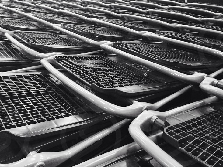Carts in carts.  photo